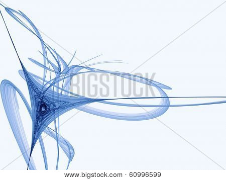 blue hyperbolic abstraction on white background