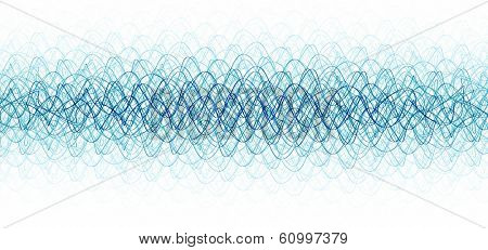 chaotic waveforms over white background.