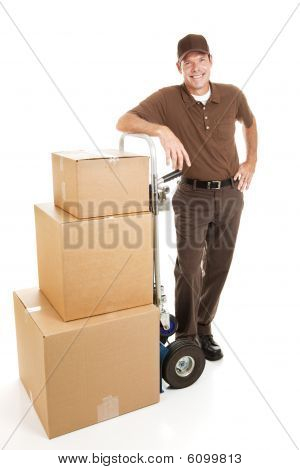 Handsome Delivery Man Or Mover