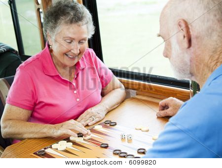 Rv Seniors Play Board Game