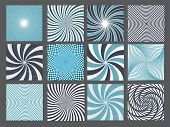 stock photo of hypnotizing  - retro vintage hypnotic background set - JPG