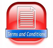 Terms and conditions user guide and rules icon button or sign