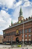 stock photo of copenhagen  - Copenhagen City Hall is situated on The City Hall Square in central Copenhagen - JPG
