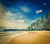 Vintage retro hipster style travel image of tropical vacation holiday background - paradise idyllic