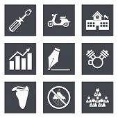 Icons for Web Design set 12