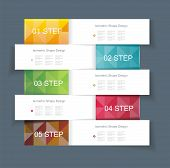 pic of mixture  - Business Design Template with color ribbon banners - JPG