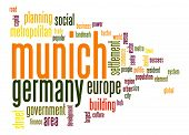 stock photo of munich residence  - Munich word cloud image with hi - JPG