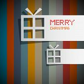 pic of box-end  - Retro Vector Christmas Theme  - JPG