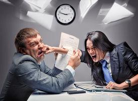 foto of disrespect  - Office fight - JPG