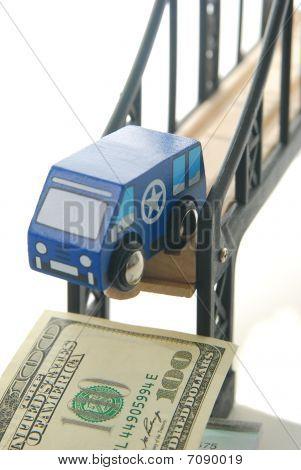 Toy Van On Bridge