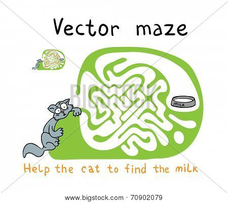Vector Maze, Labyrinth education Game for Children with Snake.