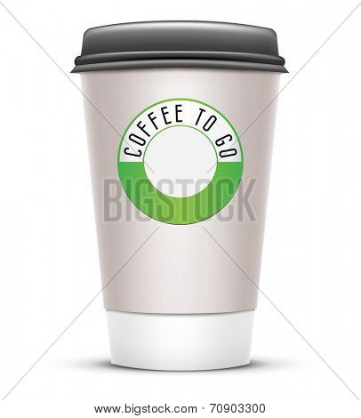 An image of a typical coffee to go cup