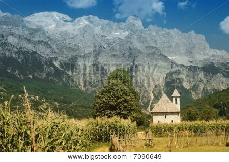 Prokletije mountains, view from Thethi village, Albania
