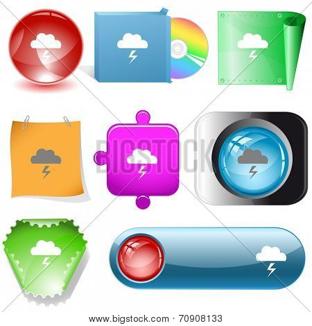 Storm. Vector internet buttons.