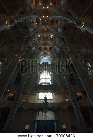 BARCELONA, SPAIN, FEB 7, 2014 - Interior of