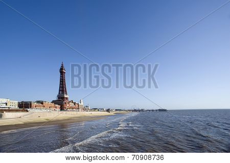 View Of Blackpool Beachfront