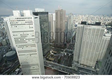 City Overview Of Shinjuku, Tokyo, Japan