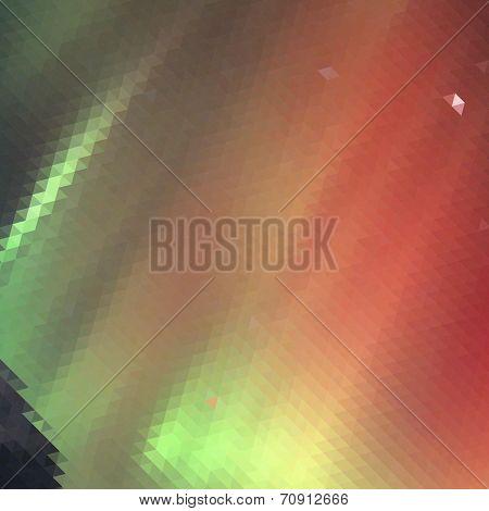 Aurora borealis background - vector illustration.