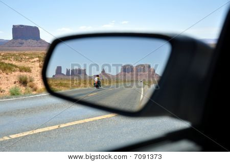 Reflection At Monument Valley