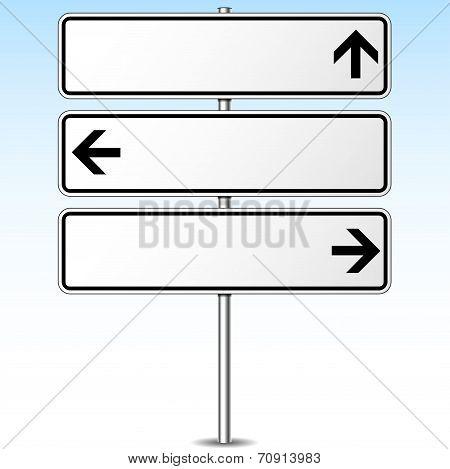 Three Directions Roadsign