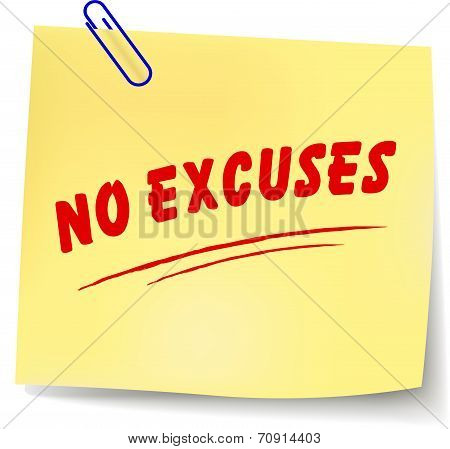 No Excuses Message