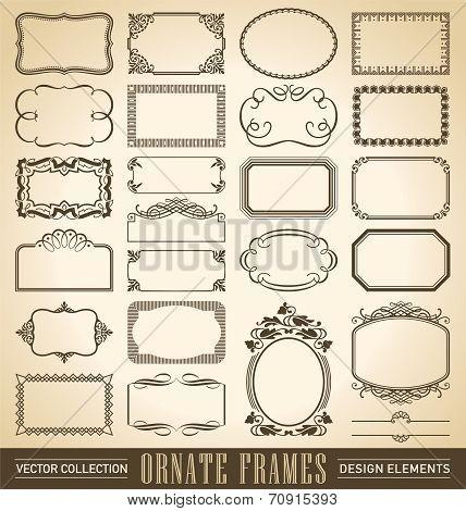 ornate frames set (vector)