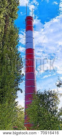 Industrial brick chimney