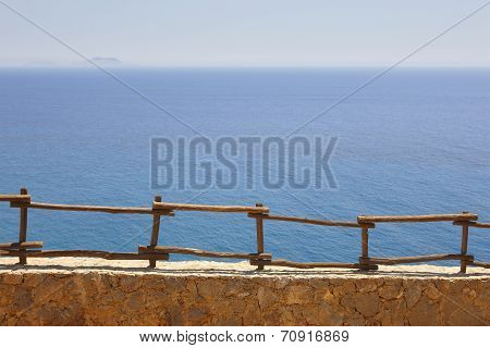 Viewpoint In Crete. Greece. Mediterranean Sea And Gavdos Island