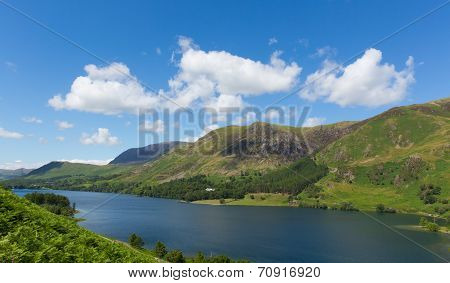 Buttermere English Lake District Cumbria England uk surrounded by mountains