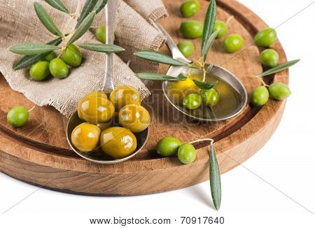 Fresh And Marinaded Olives, Olive Oil