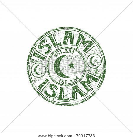 Islam grunge rubber stamp