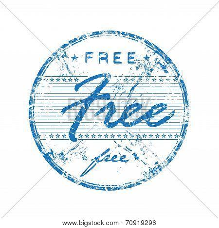Free grunge rubber stamp