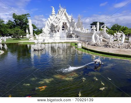 Head Of Dragon Fountain, Wat Rong Khun.