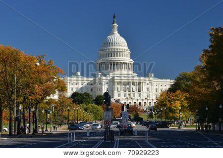 U.S. Capitol Building in Autumn - Washington D.C. United States of America