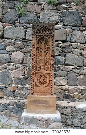 Carved Stone With Cross