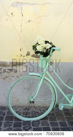 Mint green bicycle