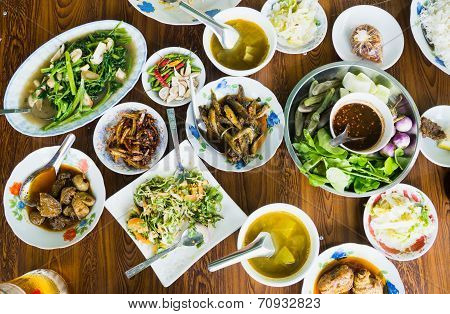 Burmese Food On A Table