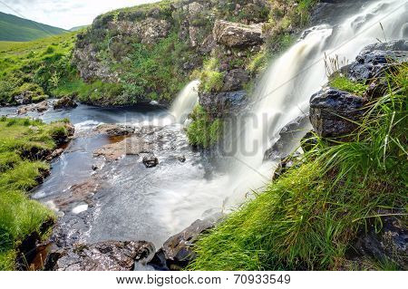 Two waterfalls in Scotland