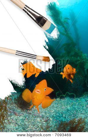 Underwater Scenery Conceptual Painting