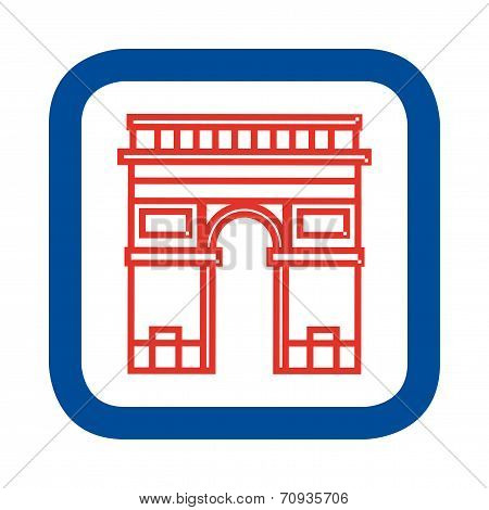 Vector illustration of Arc de Triomphe