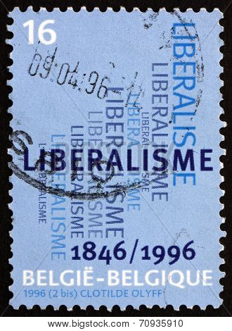 Postage Stamp Belgium 1996 Liberal Party