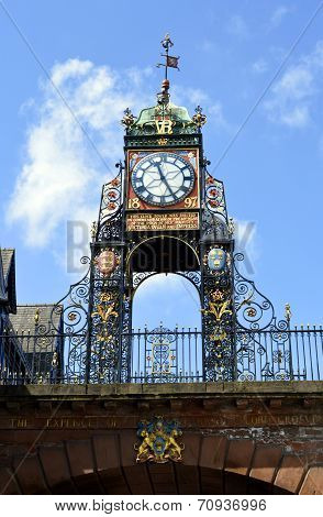 Eastgate clock tower in Chester