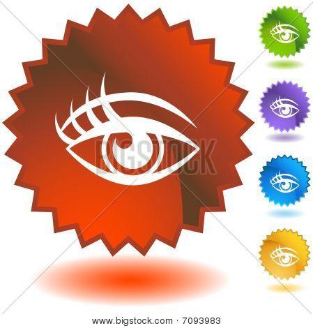 Human eye Starburst Icon Set