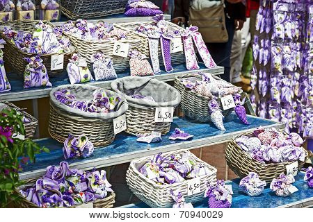Lavender Sachets On Stand