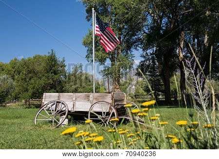 Farmyard And Cart By Mt Princeton Co