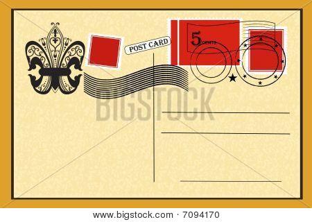 Postal con sellos Vintage