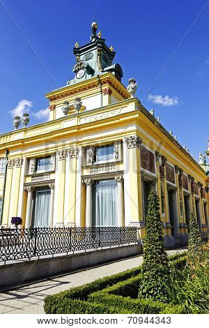 Royal Palace In Warsaw's Wilanow