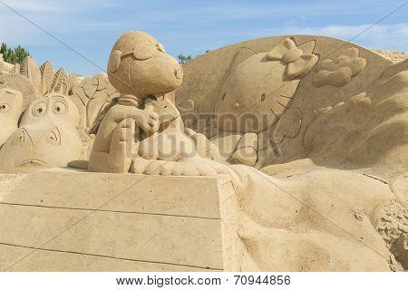 Sand Art In Portugal