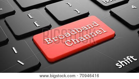 Broadband Channel on Red Keyboard Button.