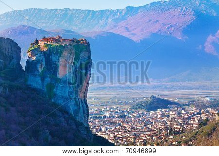 Holy Trinity Monastery on top of the cliff